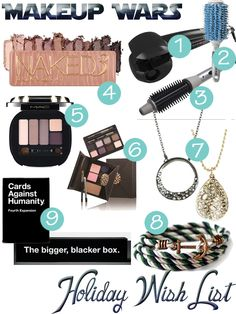 Makeup Wars – My Holiday 2013 Wish List from All Lacquered Up