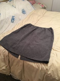 Vintage Allison Woods Gray Polyester Skirt by simplepleasantthings
