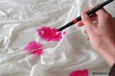 Dreammor: Como hacer.. Pintar pañuelo seda (técnica arrugado)