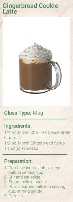 Gingerbread Cookie Latte Recipe - Monin