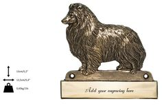 Sheltie dog plaque can be engraved limited by ArtDogshopcenter Sheltie, Lion Sculpture, Statue, Dogs, Pet Dogs, Doggies, Sculptures, Sculpture