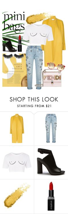"""""""MINI BAGS SUNSHINE"""" by julialaauridsen ❤ liked on Polyvore featuring Astraet, Juicy Couture, Topshop, Smashbox, Illamasqua, yellow, colorful, fashionable and minibags"""
