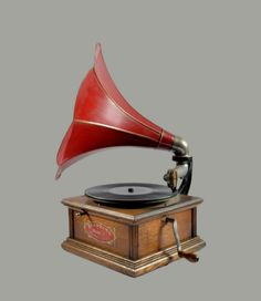 "Rare ""Standard"" Talking Machine-Gramophone, model A, USA Radios, Talking Machines, Mounted Archery, Antique Radio, Columbia Records, Record Players, Phonograph, Antiques, Usa"