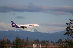 FlightAware Aviation Photos: , FedEx plane on approach to SeaTac, KSEA Cargo Transport, Cargo Airlines, Gin, Airplane, Transportation, Aviation, Aircraft, United States, Sporty