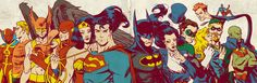 Silver Age JLA for Blastoff Comics by ~LaraW on deviantART