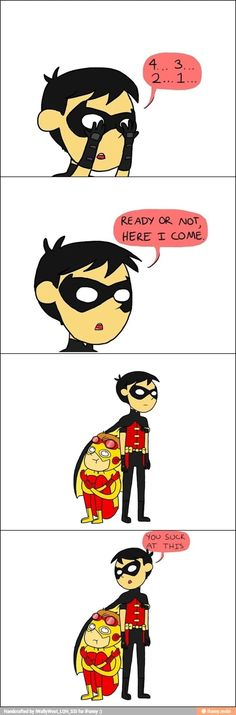Haha! Best bros :)   Dick Grayson and Wally West