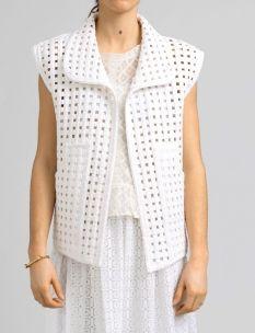 elena netting jean moto vest #shopbird15 #SS14