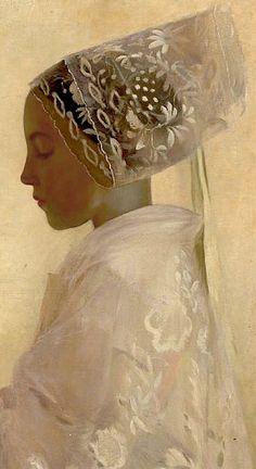A Maiden in Contemplation, Gaston La Touche (1854 – 1913)