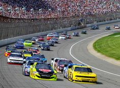 The race track at Michigan International Speedway