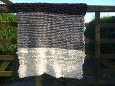 Hand knitted blanket, rustic knit throw, knitted with handspun super chunky Jacob wool yarn Hand Knit Blanket, Super Chunky Yarn, Farm Yard, Hand Spinning, Knitted Blankets, Wool Yarn, Hand Knitting, Crochet, Handmade