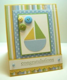 22 Ideas For Baby Boy Cards Congratulations Paper Crafts Baby Boy Cards, New Baby Cards, Baby Shower Cards, Card Making Inspiration, Card Tags, Kids Cards, Cute Cards, Creative Cards, Greeting Cards Handmade