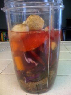 #nutribullet cabbage, beet, apple, Ginger, blood orange, parsley Swiss chard, flax & ACV #nutriblast