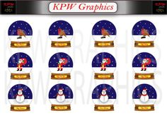 Beautiful Christmas Snow Globes 12 Clipart with 3 by KPWgraphics Christmas Snow Globes, Christmas Cards, Merry Christmas, Dark Blue Background, Beautiful Christmas, Happy Holidays, My Design, Backdrops, Clip Art