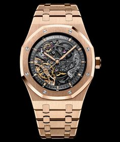 Audemars Piguet Royal Oak Royal Oak Double Balance Wheel Openworked, skeleton, automatic winding manufacture caliber 3132.  Available at Cellini Jewelers