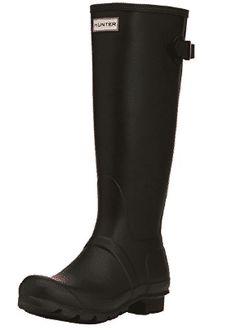 Hunter Womens Original Back Adjustable Rain Boot - Women's Rain Boots Wellies Boots, Snow Boots, Flat Boots, Knee High Boots, Stylish Rain Boots, Festival Boots, Thing 1, Fashion Deals, Hunter Boots