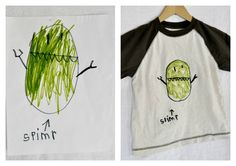 Turn your child's art into a keepsake -shirt, stuffed animal or pillow.  Fuzzy Buckets! Bringing your child's art to life