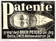 Original-Werbung/ Anzeige 1897 - PATENETE - ERICH PETERS - BERLIN - ca. 45 x 30 mm