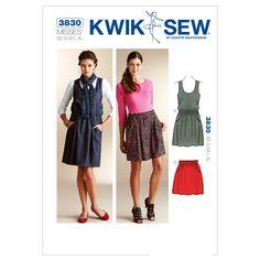 Mccall Pattern K3830 Xs-S-M-L-X-Kwik Sew Pattern