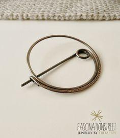 Fascinationstreet B-handmade: Fibel - spilla/fibula in rame e texture