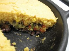 The Sopranos and Lorna Sass: Black Bean Skillet Casserole with Cornbread Topping | Cookbook Cooks