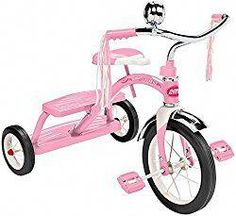 The Radio Flyer Girls Classic Pink Dual Deck Tricycle is the one you loved as a kid! The Radio Flyer Girls Classic Pink Dual Deck Tricycle is made of steel, chrome handlebars, fender and bell, controlled turning radius for stability, Radio Flyer, Pink Radio, Radios, 2 Year Old Girl, Ride On Toys, Kids Bike, Top Toys, Toys R Us, Baby Essentials