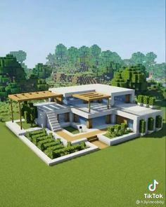 Craft Minecraft, Modern Minecraft Houses, Minecraft House Plans, Minecraft Mansion, Minecraft Cottage, Minecraft House Tutorials, Minecraft Room, Minecraft House Designs, Minecraft Architecture