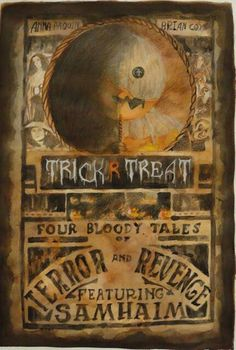 Our assignment for the movie poster was given at the start of October, so of course I had to choose a Halloween movie. Trick R Treat Poster Halloween Iii, Halloween Season, Halloween Horror, Halloween Night, Halloween Party, Trick Or Treat Film, Sam Trick R Treat, Horror Movie Posters, Horror Films