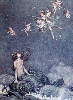 Mermaid - illustration by William Heath Robinson (c.1870's)