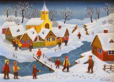 winter-in-the-village-mihai-dascalu.jpg (600×434)