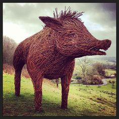 Huuge #wicker #pig by @handmayed was liked by the...   Wicker Blog  wickerparadise.com