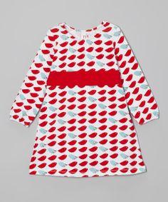 Red & Blue Bird Sash Dress - Infant, Toddler & Girls - nktoo by Nohi Kids