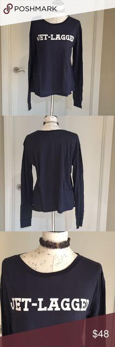 New Wildfox Jet-Lagged long sleeve tee shirt 🏵FINAL🏵 New Wildfox Jet-Lagged long sleeve tee shirt.  This shirt is reversible.  No Trades Wildfox Tops Tees - Long Sleeve