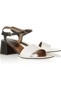 Marni | Two-tone leather sandals | NET-A-PORTER.COM