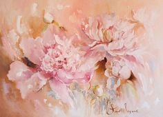 Pastel flower-2 - картина маслом,картина на холсте,картина в светлых тонах