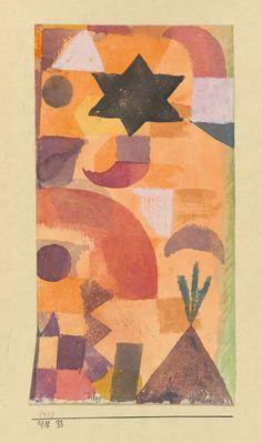 """Paul Klee: """"Kl. Vignette an Aegypten"""", 1918, 33, Aquarell und Gouache auf Papier auf Karton, Privatbesitz (© Zentrum Paul Klee, Bern)"""