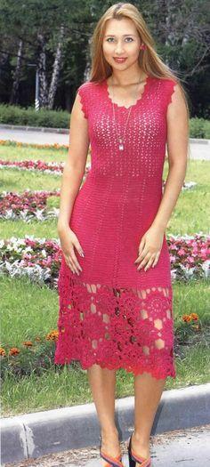 Crochet dress….see pattern…./