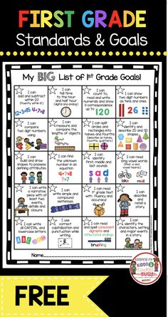 , FREE first grade goal chart - I Can Statements - common core aligned - printable. , FREE first grade goal chart - I Can Statements - common core aligned - printable leader chart - SMART goals freebie printable First Grade Curriculum, First Grade Activities, Teaching First Grade, First Grade Teachers, First Grade Classroom, First Grade Freebies, First Grade Assessment, Homeschooling First Grade, First Grade Science