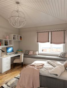 33 bedroom ideas for small rooms 21 - Schlafzimmer Ideen gemütlich - Bedroom Small Room Bedroom, Bedroom Wall, Bedroom Decor, Light Bedroom, Bedroom Lighting, Master Bedroom, Small Teen Room, Bedroom Chandeliers, Master Suite