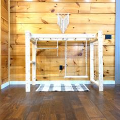 Indoor Swing Set, Wood Jungle Gym, Wooden Playground, Toddler Climbing Center, Natural Play Set by MineAndMommys on Etsy Toddler Jungle Gym, Indoor Jungle Gym, Backyard Jungle Gym, Toddler Playground, Indoor Gym, Backyard Playground, Indoor Play, Backyard For Kids, Playground Set