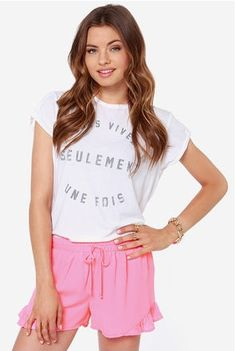 Poppin' #pink shorts go great with a #tank and #flipflops!