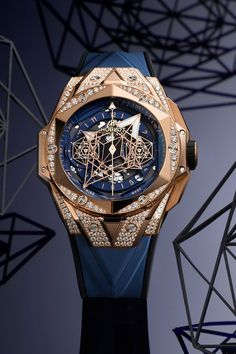 Hublot's 2020 Watch Releases Feature Rainbow-Colored Gemstones, Gold Crystal, Shearling Cuffs and More: Striking new takes on its signature Big Bang model. Sport Chic, Hublot Watches, Expensive Watches, Luxury Watches For Men, Gemstone Colors, Jewelry Watches, Dubai, Gemstones, Crystals