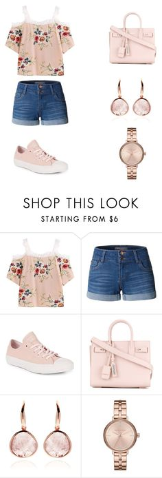 """Untitled #18"" by natalijafaye ❤ liked on Polyvore featuring LE3NO, Converse, Yves Saint Laurent and Michael Kors"