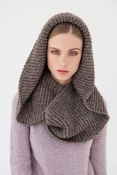 # 10 Kapuzenloop by Lana Grossa Ravelry, Free Knitting Patterns For Women, Free Pattern Download, Laksa, Womens Scarves, Women Accessories, Winter Hats, Seasons, Wool