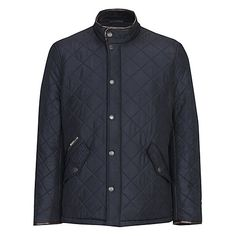 Buy Barbour Lifestyle Powell Quilted Jacket, Black from our Men's Coats & Jackets range at John Lewis & Partners. Barbour Mens, Barbour Jacket, Wooly Jumper, Wax Jackets, Heritage Brands, Quilted Jacket, Jackets Online, Winter Jackets, Leather Jacket