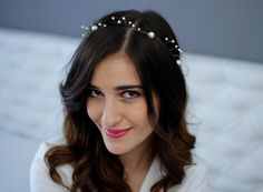 Pearl Crown Pearl Wedding Headband Bridal Bridal Pearl Headpiece on Etsy, £43.85