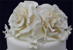 Kit Set Cakes: Campania Rose Design; Sugar flowers, Roses, wedding cake www.kitsetcakes.co.uk