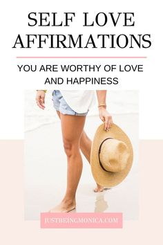 Self Love Affirmations | Just Being Monica | These self love affirmations will help you change your thoughts about yourself through positive thinking and repetition. Which in turn, will change your reality. Powerful huh? Read more >> #selflove #affirmations #mantras #loveyourself #youareenough #behappy Happiness Comes From Within, Tips To Be Happy, Self Love Affirmations, Happy Today, Gratitude Quotes, Uplifting Quotes, Finding Joy, Feeling Happy, Body Image