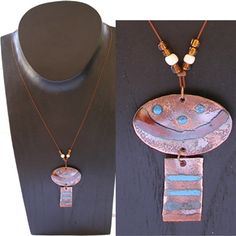 Very unusual yet attractive, this copper pendant is hand made in Santiago, Chile  $29.99 #Fairtrade #Jewelry #Handmade
