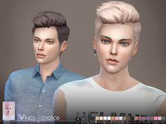 Sims 4 CC's - The Best: Hair for Male by Wingssims