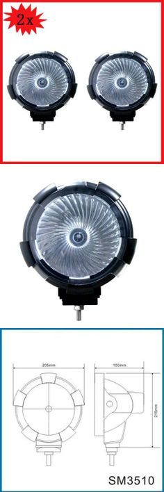 Wotefusi 2 PCS 7 12V 55W HID Flood Beam Work Light Off Road Lamp Jeep Truck Pickup Housing:ABS plastic,Lens: Torghened glass Internal slim ballast. Beam: flood beam Voltage:12V. Normal Delivery:Color temperature: 6000K(3000K-8000K optional) Max brightness: 202500cd, life span: >3000 H. Work temperature: -40-80¡ãC Power: 55W 4300¡À400lm Lamp size: 205x150x220MM.  #Wotefusi #Automotive_Parts_and_Accessories